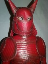 """RARE OOAK RED DEVIL LEATHER OUTFIT  BY DALILA? FITS 17"""" MALE TONNER DOLL HELMET"""