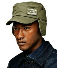 NWT Men's G-Star Raw Harper Duty Cap Hat Military Rovic Green Size Medium M $80+