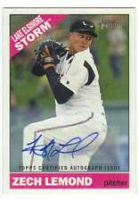 2015 Topps Heritage Minor League Real One Autograph AUTO ROA-45 Zech Lemond