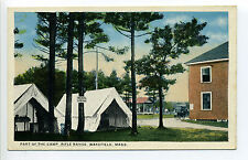 Wakefield MA Mass Rifle Range, Medical Department, tents, medical supples