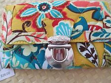 Vera Bradley~ PROVENCAL ~Quick Swipe ID Case Wallet ~ CREDIT CARD SWIPE AND GO