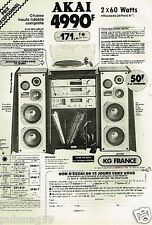 Publicité advertising 1982 La Chaine Hi-Fi Akai