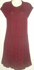 Ladies burgundy jumper dress by Marvin Richards, Size XS  (suit 8-10),  BNWT