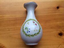 LIMOGES piccoli fiori su sfondo bianco Vaso con bordatura d'oro bellissima