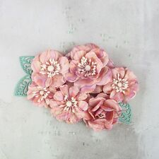 """PRIMA """"SLATE"""" Mulberry Marble Paper Flowers 586782"""