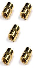"""Brass Fittings: Brass Coupling, NPT Female Pipe 1/2"""" Quantity 5"""