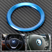 Blue Car Steering Wheel Center Decoration Ring Cover For BMW 1 3 4 5 7 Series