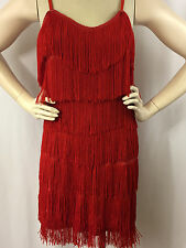 Cheryl Creations Fringe Flapper Costume Party Dress Red Size Large Sexy Women's