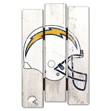 """SAN DIEGO CHARGERS FENCE WOOD SIGN 11""""X17'' BRAND NEW FREE SHIPPING WINCRAFT"""