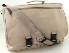 Hommes femmes satchel épaule messenger courier DISPATCH college school bag beige