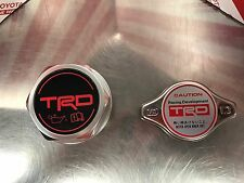 TRD Oil Cap & Radiator Cap PTR35-00110 & PTR04-00000-03 Genuine OEM Toyota Parts