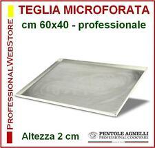 TEGLIA RETTANGOLARE MICROFORATA MICRO FORATA FORI AGNELLI cm 60 x 40 ALLUMINIO
