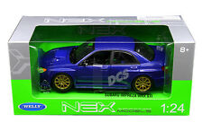 WELLY SUBARU IMPREZA WRX STI BLUE 1:24 DIECAST CAR MODEL  22487