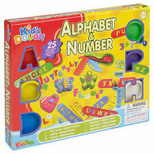 25pc Kids Play Dough Alphabet & Number Tubs & Shaping Children Sets Craft Xmas