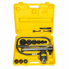 10 Ton 6 Die Hydraulic Knockout Punch Driver Kit Hole Hand Tool Conduit 22-60mm