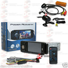"POWER ACOUSTIK PD-454B DIN 4.5"" LCD DVD BLUETOOTH STEREO FREE 170° REAR CAMERA"