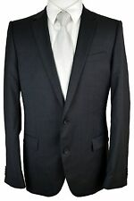 #BZ56 HUGO BOSS Amaro/Heise Gray 2 Button Notch Lapel 100% Wool Jacket 42L