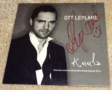 Eurovision Song Contest 2012 Estonia Ott Lepland Kuula SIGNED promo CD single