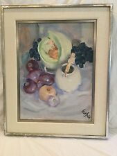 ORIGINAL OIL PAINTING BY ROLAND STRASSER STILL LIFE OF FRUIT