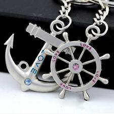 Valentine's Day Navy Rudder Anchor Classic couple key Chain Creative Lover gifts