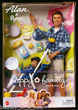 Alan & Ryan Happy Family Barbie Doll Ken Tommy Dad and Son ~ Stroller Midge NRFB