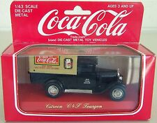 COCA COLA CITROEN C4F FOURGON Die-cast 1/43 by SOLIDO FRANCE in Display Box 1979