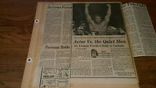 Vintage 1974 Boxing Newspaper Clippings MUHAMMAD ALI George Foreman  Boxer lot a