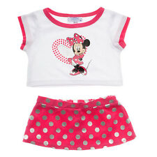 Build a Bear Clothes - Disney Minnie Mouse Skirt Outfit 2 pc.- New