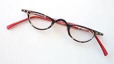 Lesebrille Nahbrille occiali Kunststoff unisex schwarzweiß innen rot kleine Form
