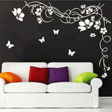 Flower vine Butterfly Wall Sticker Wall Decals Art Home Decal Living Room Decor