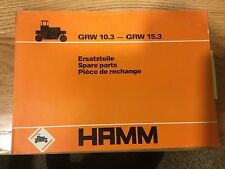 Hamm GRW 10.3 15.3 PARTS MANUAL BOOK CATALOG RUBBER TIRED ROLLER ROAD COMPACTOR