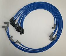 Small Block Chevy 55-89 305,327,350,400 HEI BLUE Spark PLug Wires under Exhaust