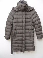 Burberry Brit Winterleigh Belted Down Mink Grey Coat Jacket Puffer Size S MSRP $