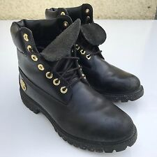 L@@K TIMBERLAND MENS BLACK LEATHER BOOTS UK 7.5 EU 41.5