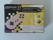 MANETTE CONTROL IT SUPER NINTENDO - SNES - SUPER NES - OLDIES KOO CLASSIC PAD