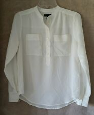 J Crew Womens Silk popover shirt in ivory Size 12 #E9133 $110 Blouse Top