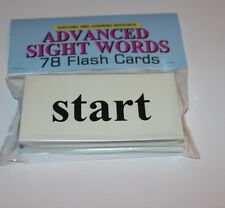 78 Sight Word - Flash Cards- Advanced level