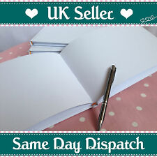 Plain / Blank / White Guest Book. DIY Wedding Guest Book - Special Occasion Book