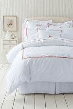 NWT 300 Ct Sateen 100% Cotton Embroider Hotel Duvet Cover 414506 White Twin $109