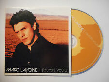 MARC LAVOINE : J'AURAIS VOULU ( SINGLE MIX ) ♦ CD SINGLE PORT GRATUIT ♦