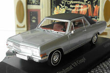 OPEL DIPLOMAT V8 COUPE 1965 LAPLATA SILVER BLACK ROOF MINICHAMPS 400048020 1/43