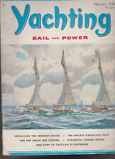 Yachting Magazine Cup Boats Molded Fiberglass Boat  February 1958 Free US S/H