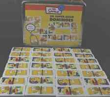 The Simpsons 28 Super sized Dominoes With Lunchbox Case 100% Official Bart Homer