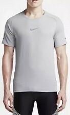 NEW NIKE DRI FIT AEROREACT RUNNING SHIRT GREY MENS - SZ SMALL - 717972 012