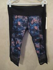 NWT LULULEMON IF YOU'RE LUCKY Blue Full-On Luxtreme Running Yoga Crop Pants~10