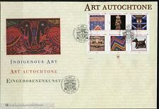 UNITED NATIONS SPECTACULAR COVER HOLDING INDIGENOUS ART 2004 SHEET FDCS