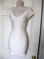 BEBE IVORY RAGLAN SLEEVE TEXTURED BODYCON NEW DRESS XSMALL XS SMALL S P/S