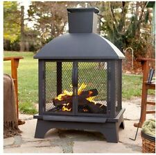 Outdoor Patio Fireplace Back Yard Fire Pit Wood Burning Heater Chiminea Firepit