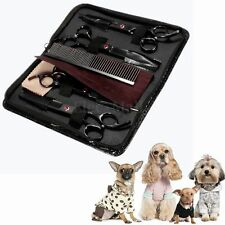 "7"" Professional Pet Grooming Scissors Dog Cutting/ Curved/ Thinning Kit + Comb"