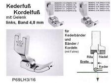 Kederfuß/ KORDELFUß links für BAND 4,8 mm P69LH 3/16